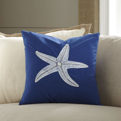Starfish Embellished Pillow Cover
