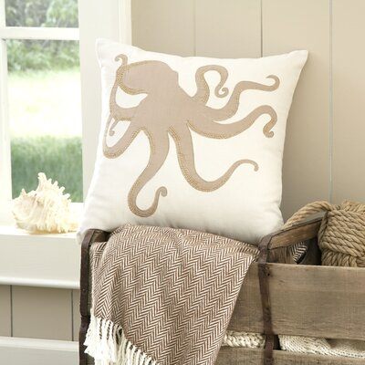 Octopus Marina Embellished Pillow Cover