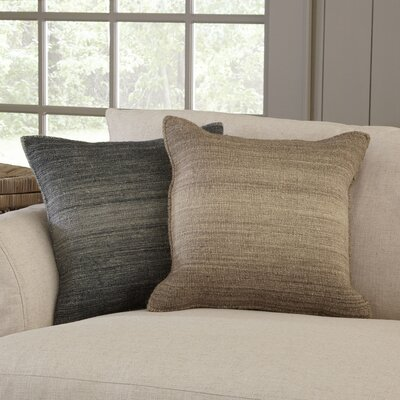 Carlsbad Pillow Cover Color: Brown, Size: 22 H x 22 W x 0.25 D