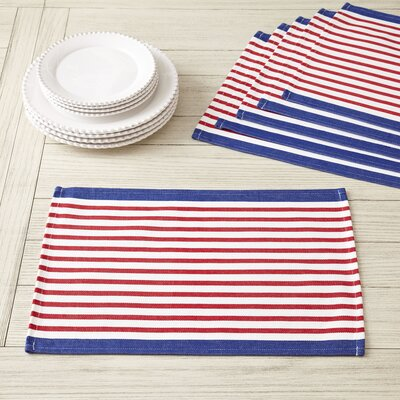 Colburn Placemats Color: Red