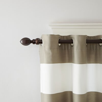 Geometric Finial Single Curtain Rod and Hardware Set Size: 2.25 H x 126 W x 6 D