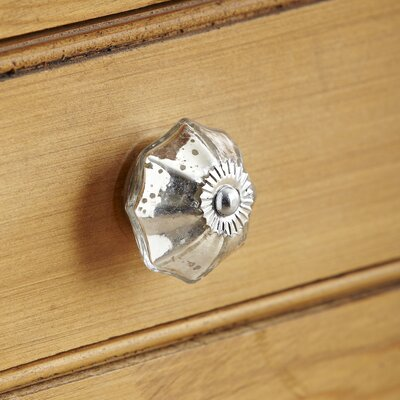 Mercury Glass Knob (Set of 4)