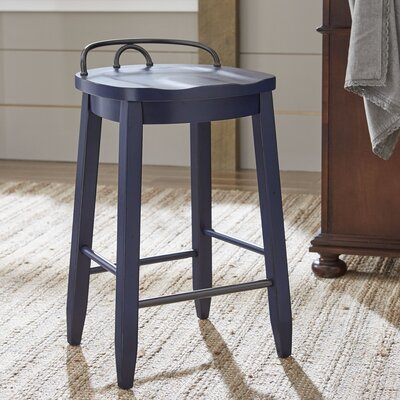 Piedmont Counter-Height Stool Finish: Navy Blue