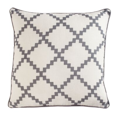Pasqual Pillow Cover Color: Gray, Size: 18 H x 18 W x 0.25 D