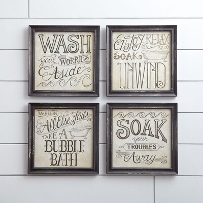 Bath Time Wall Framed Print