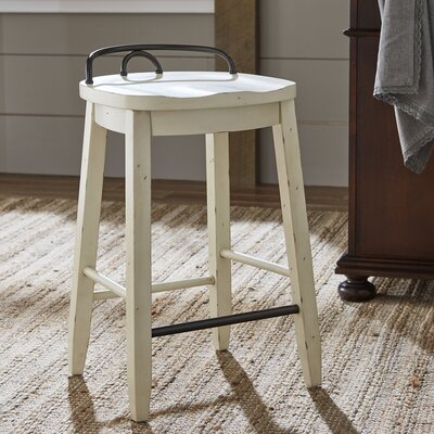 Piedmont Counter-Height Stool Finish: White