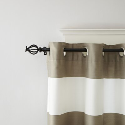 Caged Finial Curtain Rod and Hardware Set