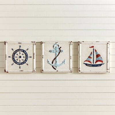Nautical 3 Piece Wall Decor Set (Set of 3)
