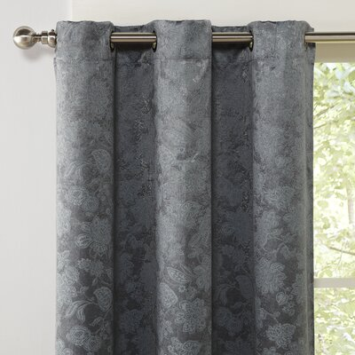 Myra Blackout Curtain Panel Color: Gray