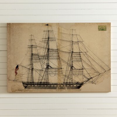 Sketched Ship Canvas