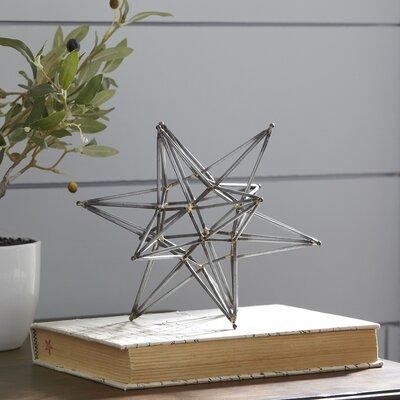 Metal Star Figurine Size: 8 H x 8 W x 8 D