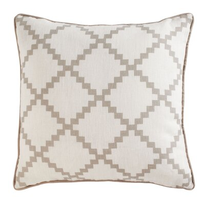 Pasqual Pillow Cover Color: Beige, Size: 18 H x 18 W x 0.25 D