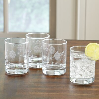 Floral Glassware Highball Glasses