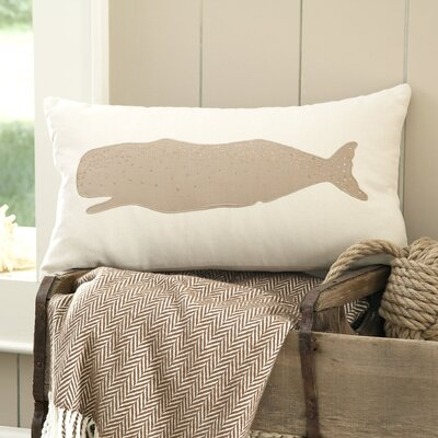 Whale Marina Embellished Pillow Cover