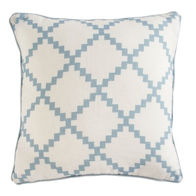 Pasqual Pillow Cover Color: Aqua, Size: 18 H x 18 W x 0.25 D