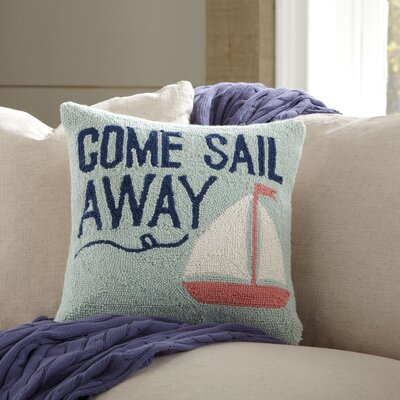Come Sail Away Hooked Pillow