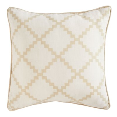 Pasqual Pillow Cover Color: Tan, Size: 18 H x 18 W x 0.25 D