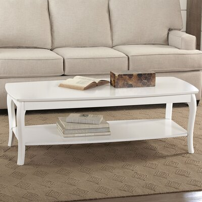 Alberts Rectangular Coffee Table Finish: White