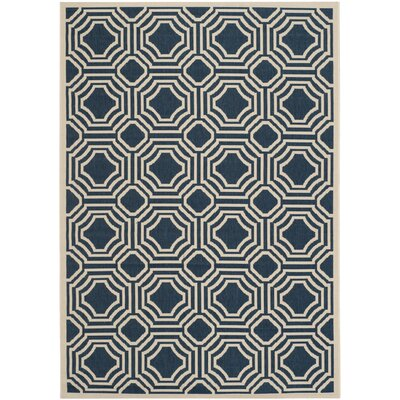 Machine Woven Red Outdoor Area Rug Rug Size: 53 x 77