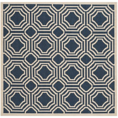 Machine Woven Red Outdoor Area Rug Rug Size: Square 5