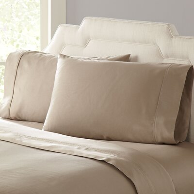 Birch Lane Classic Sateen Pillowcases Size: King, Color: Taupe