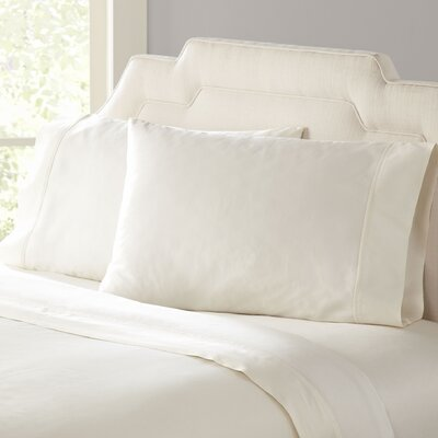 Birch Lane Classic Sateen Sheet Set Color: Cream, Size: Full