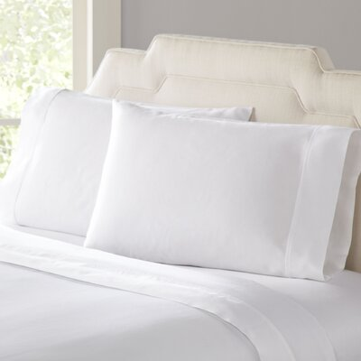 Birch Lane Classic Sateen Sheet Set Size: Full, Color: White
