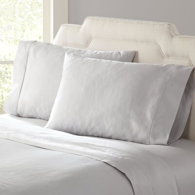 Birch Lane Classic Sateen Sheet Set Size: Full, Color: Grey