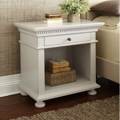 Dobson 1-Drawer Nightstand Color: Fog