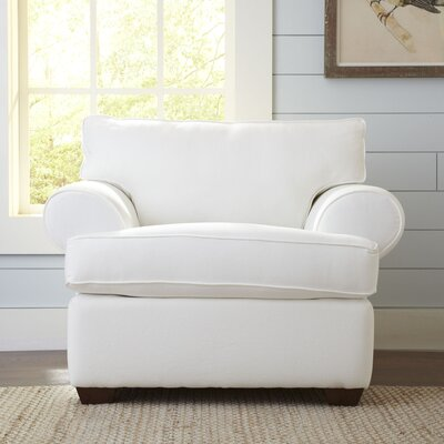 Wright Arm Chair Upholstery: Classic Bleach White