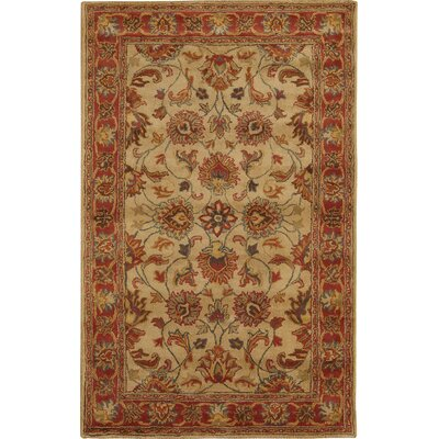 Arden Brick Hand-Woven Wool Area Rug Rug Size: Rectangle 8 x 11