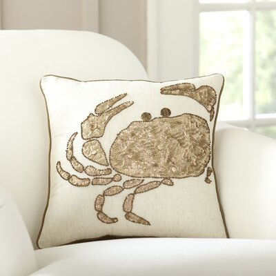 Crab Sequined Pillow Cover