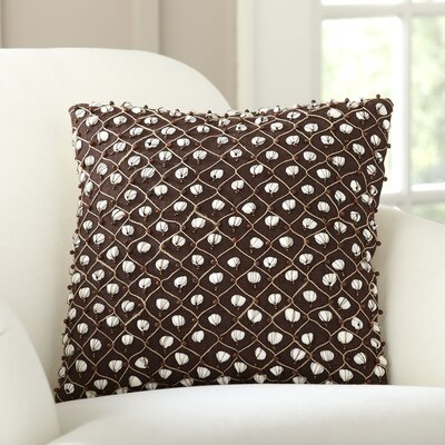 Current Embellished Throw Pillow Color: Chocolate