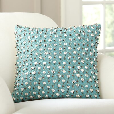 Current Embellished Throw Pillow Color: Turquoise