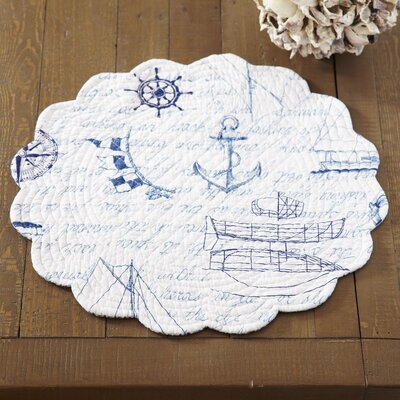 Tradewinds Round Placemat (Set of 6) Size: 0.1 H x 17 W x 17 L