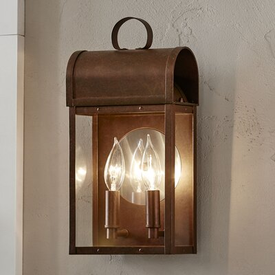 Milligan Outdoor Sconce Color: Weathered Copper