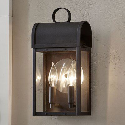 Milligan Outdoor Sconce Color: Black