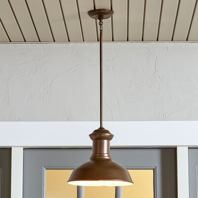 Winside Outdoor Pendant Color: Weathered Copper