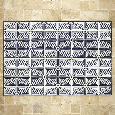 Navy Indoor/Outdoor Area Rug Rug Size: 53 x 76