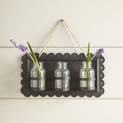 Tin Hanging Vase Wall Decor