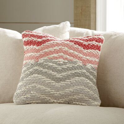 Fremont Pillow Cover Color: Coral/Gray