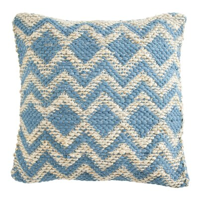 Brandt Pillow Cover Color: Blue / Grey