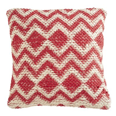 Brandt Pillow Cover Color: Coral / Grey