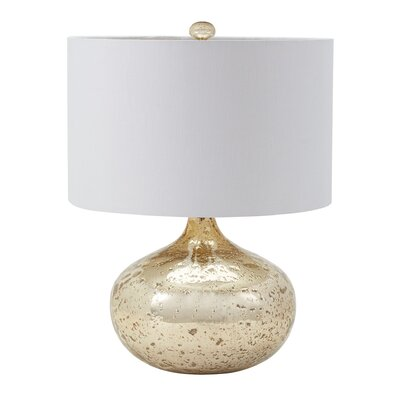 McLean Mercury Glass Table Lamp Base Finish: Gold Mercury