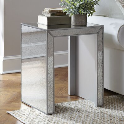 Elliott Mirrored Side Table