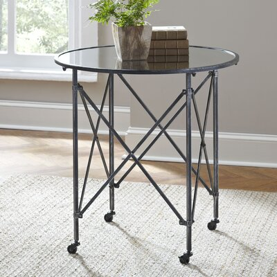 Minot End Table Color: Black, Size: 26.57H x 16.93W x 16.93D