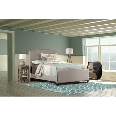 Upholstered Panel Bed Size: Twin, Color: Gray