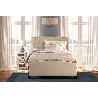 Upholstered Panel Bed Size: Twin, Color: Light Taupe