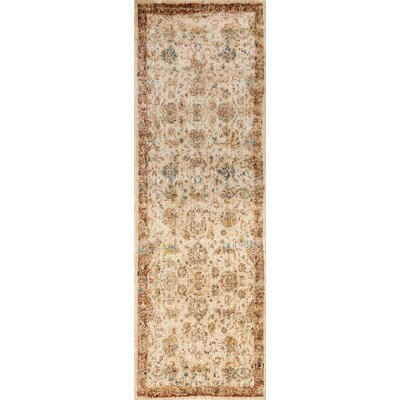 Jeffrey Beige/Rusty Brown Area Rug Rug Size: Runner 27 x 10