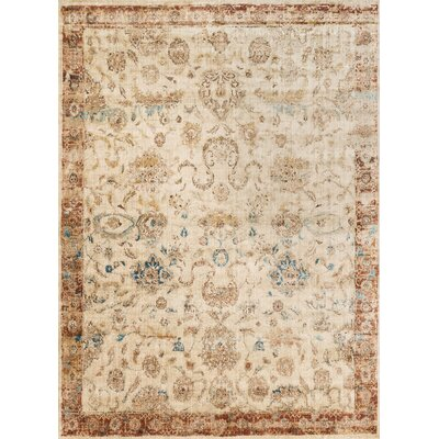 Jeffrey Beige/Rusty Brown Area Rug Rug Size: Rectangle 5'3